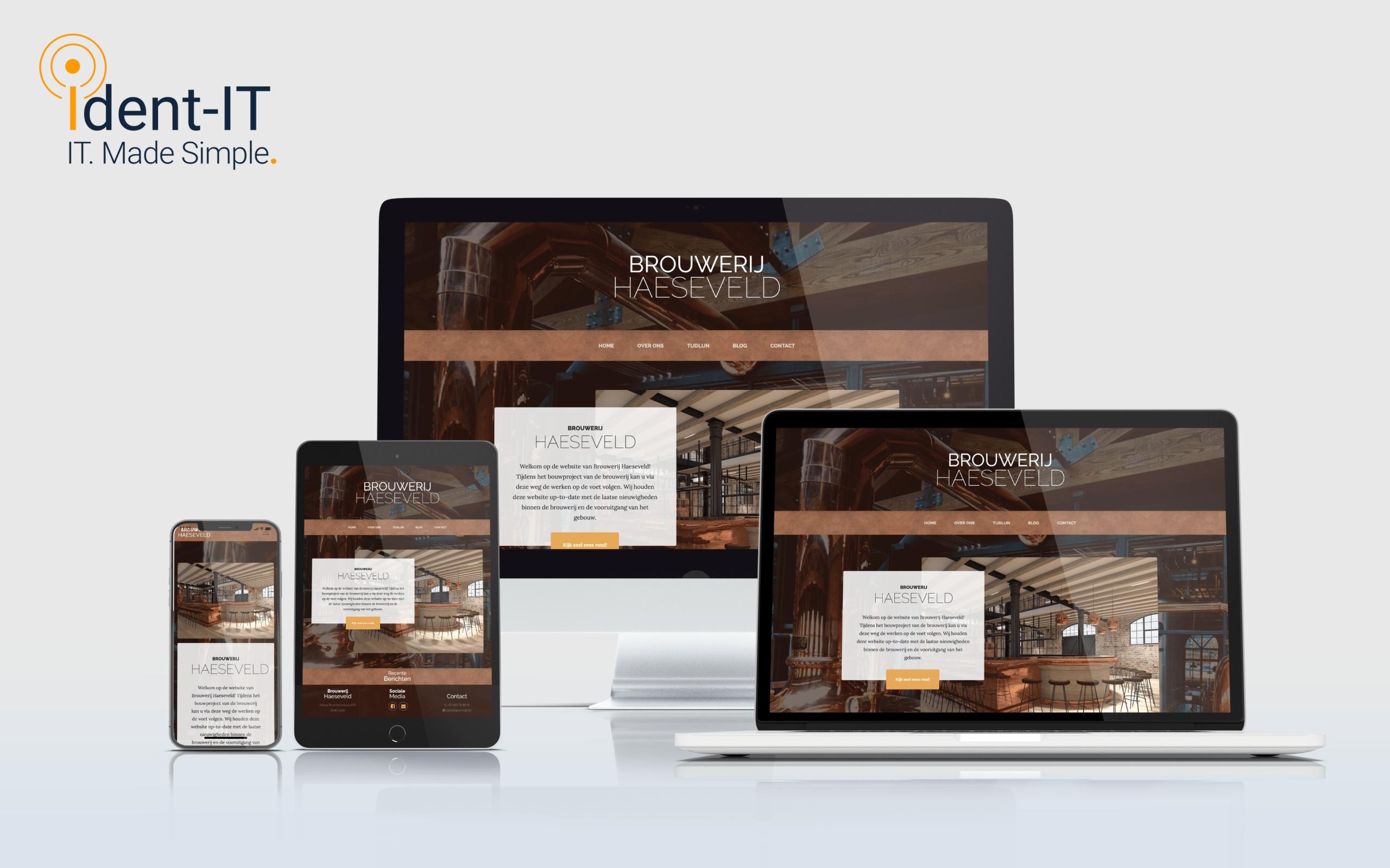 Website Brouwerij Haeseveld