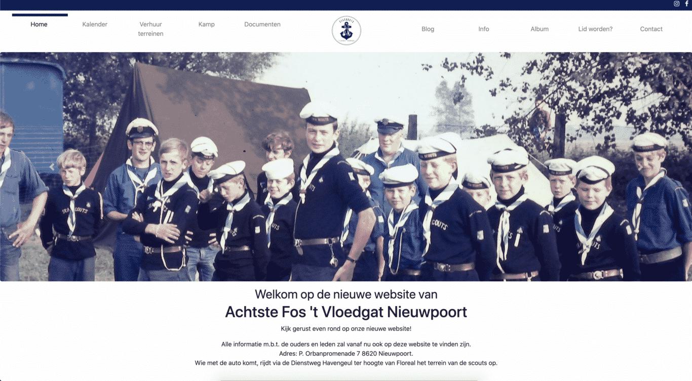 Website Seascouts Nieuwpoort